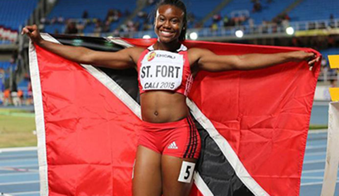 Khalifa St Fort...the T&T sprinter impressed at the Flow Carifta Games again, winning the Girls' Under-20 100 metres dash in 11.56 seconds yesterday in Curacao.