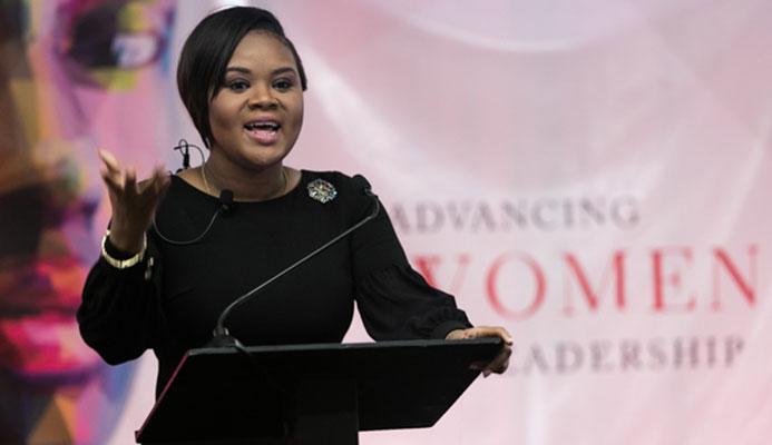 Honourable Minister of Sport and Youth Affairs Shamfa Cudjoe - Photo credit: Marlon Rouse/TTOC.org